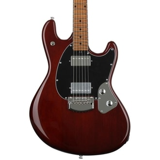 MusicMan StingRay 4 Special HH Guitar - Tremolo - Trans Walnut - Roasted javorovým krkem