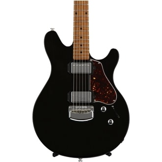 MusicMan Valentine Guitar - Trans Black - Roasted Maple Neck