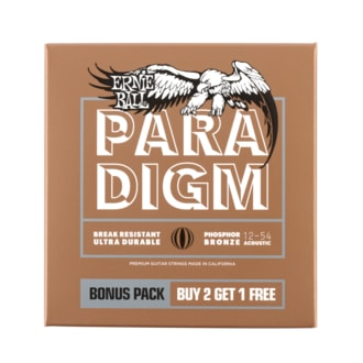 3316 ERNIE BALL PARADIGM MEDIUM LIGHT  PHOSPHOR BRONZE .012 -.054 2+1 ZDARMA BONUS PACK ACOUSTIC GUITAR STRINGS