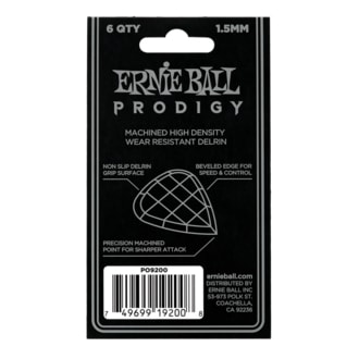 9200 Ernie Ball Prodigy Black 3s Mini 1.5mm Picks - kytarová trsátka 1ks