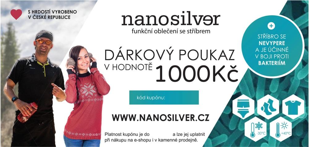 nanosilver Dárkový poukaz 1000 Kč