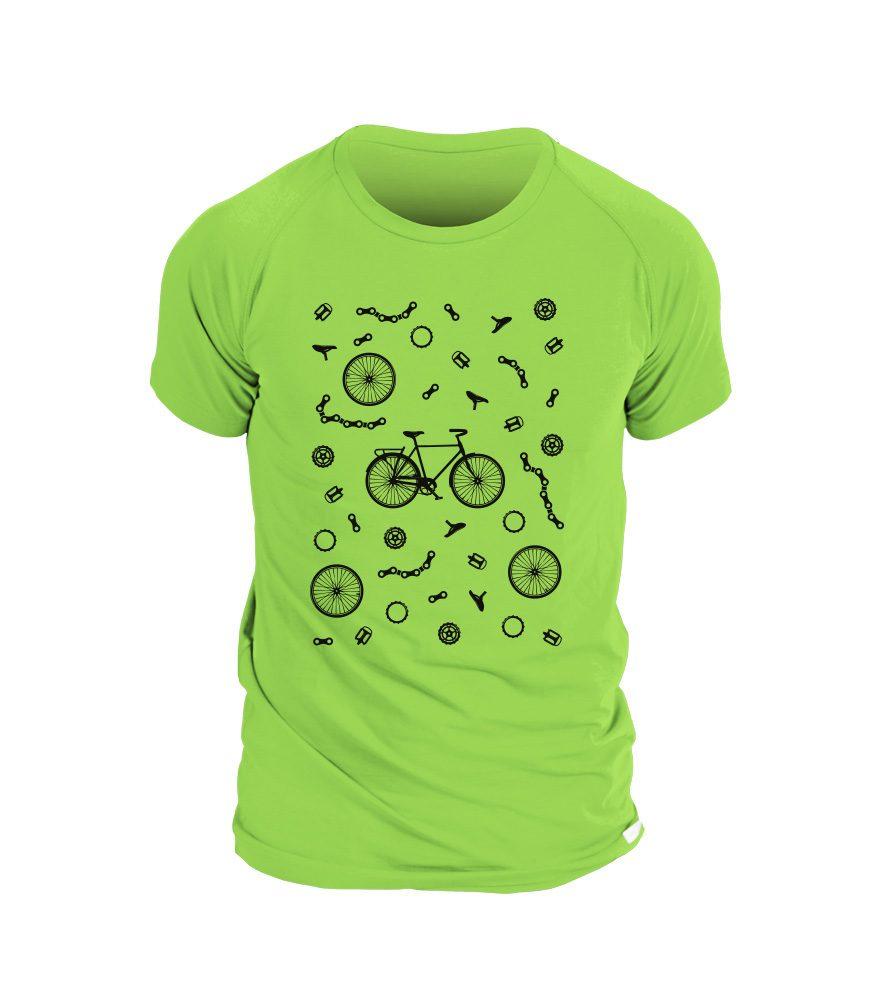 Levně Pánské triko BIKE - XL - zelená
