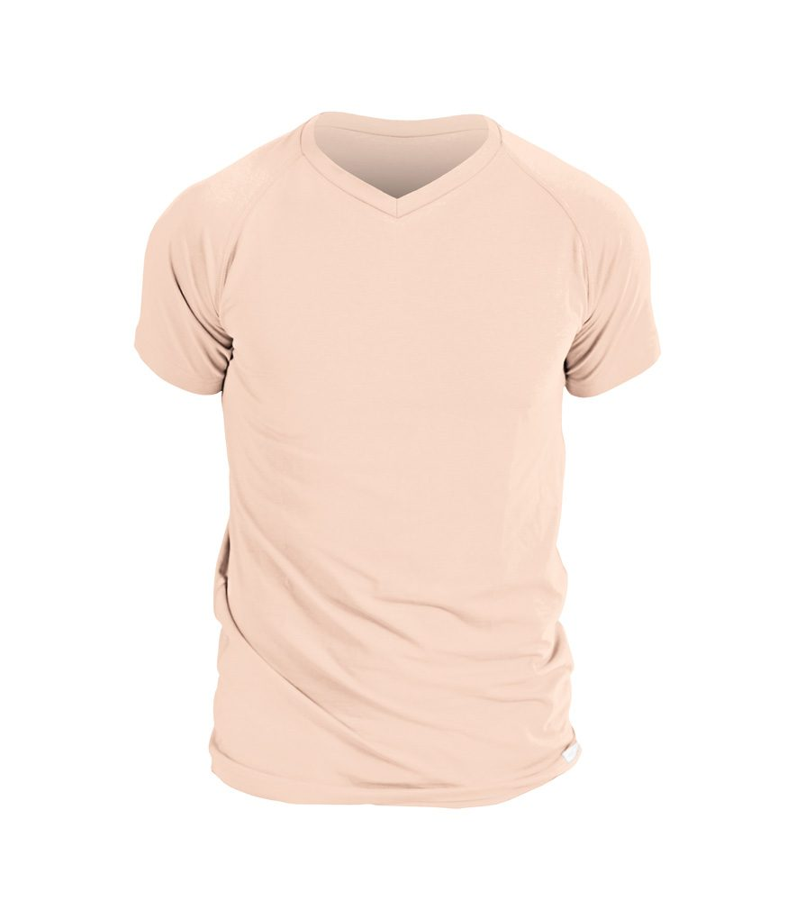 Levně Pánské triko nanosilver, s výstřihem do V - XL - tělové