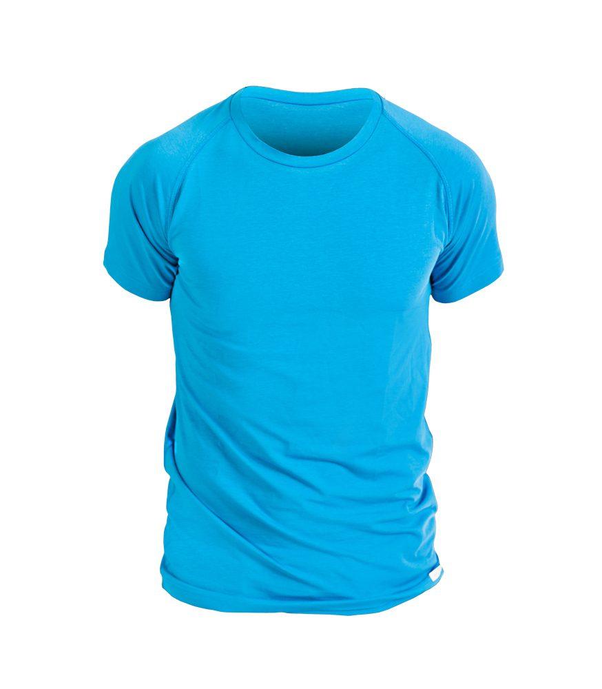 Levně Pánské triko krátký rukáv - S - modré