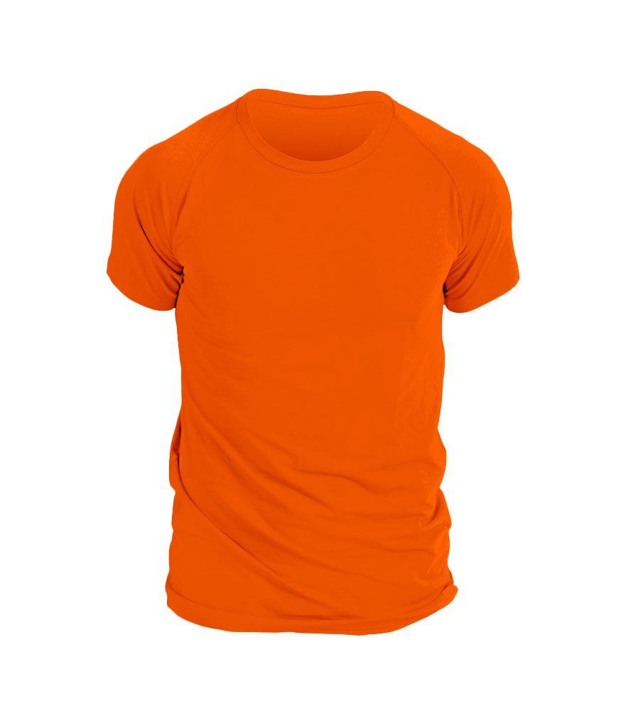 nanosilver Pánské triko nanosilver krátký rukáv - L - oranžová
