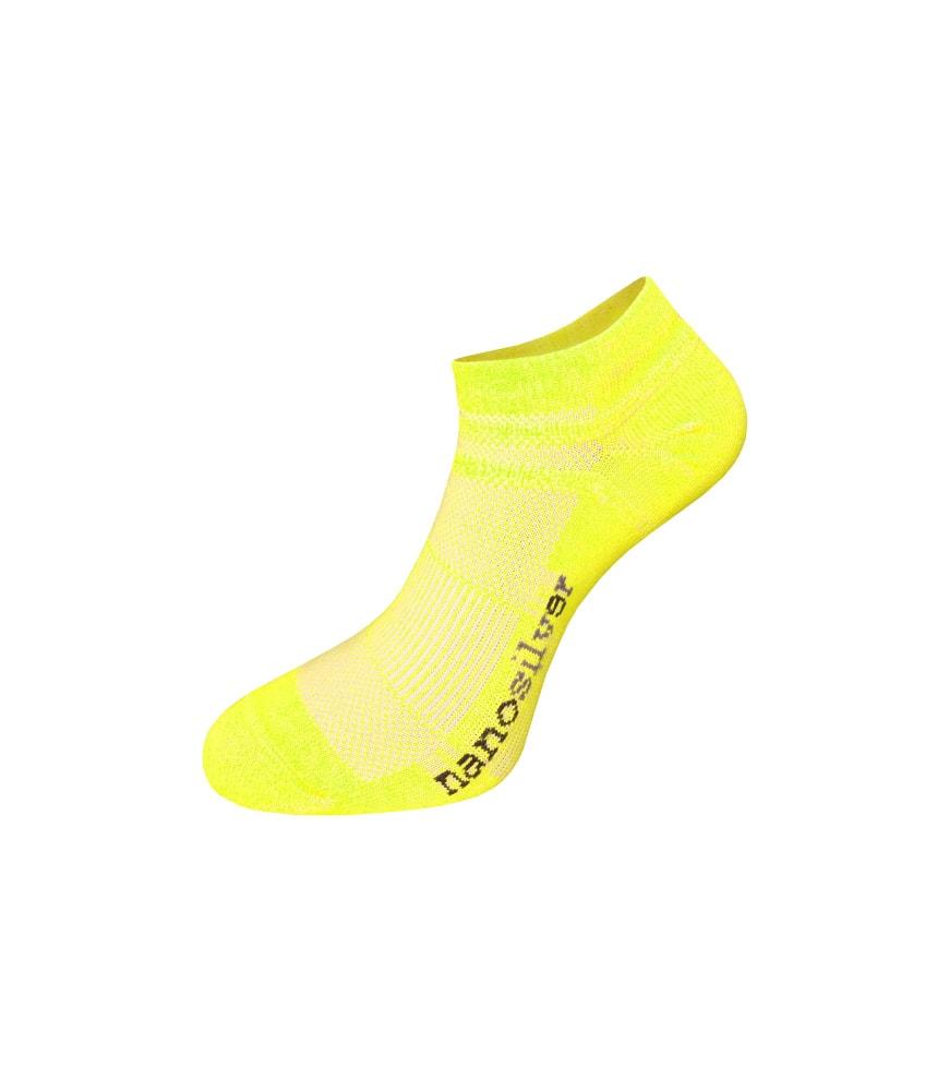 nanosilver Kotníkové tenké ponožky nanosilver - L 43/46 - reflexní žluté