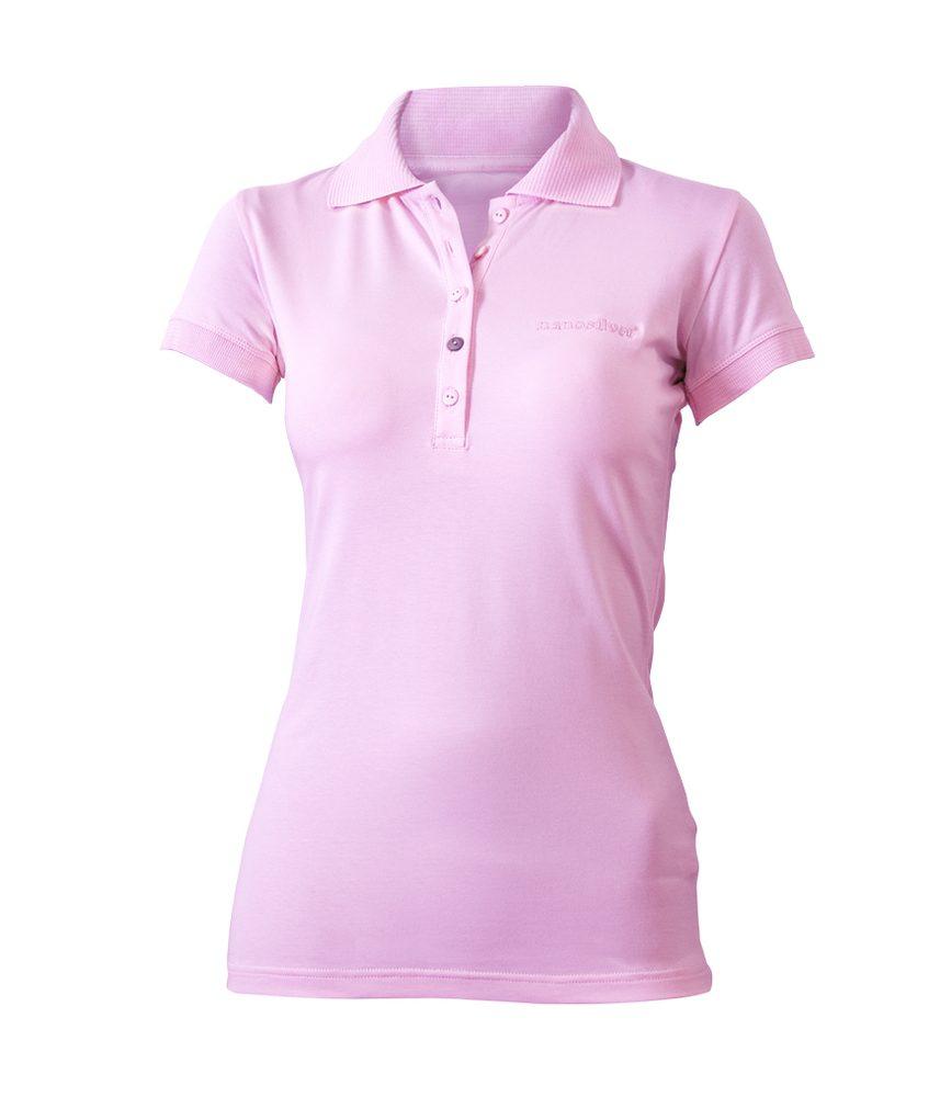 Levně Dámská polokošile Classic Růžová - S - růžová s růžovou výšivkou