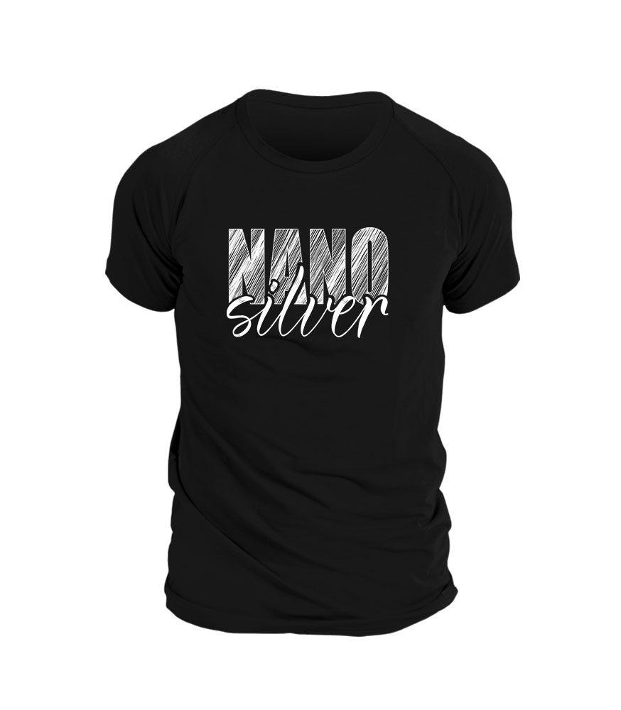 Levně Pánské triko potisk NANOsilver - L - černá