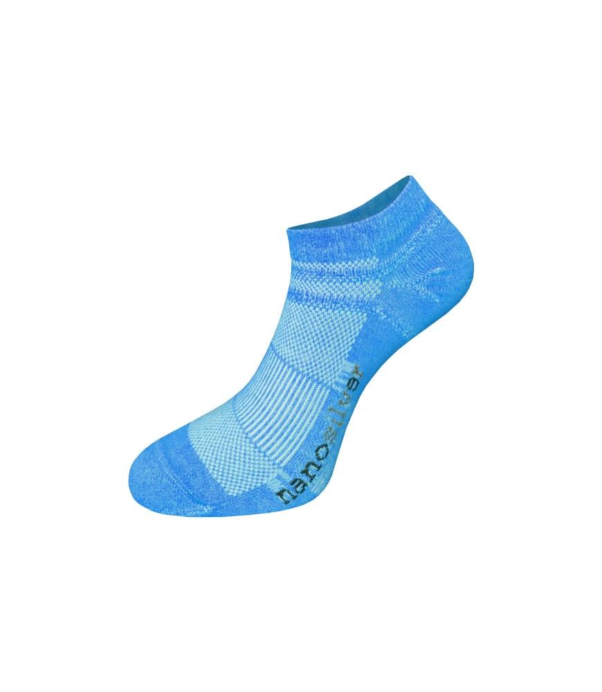 nanosilver Kotníkové tenké ponožky nanosilver - L 43/46 - modré