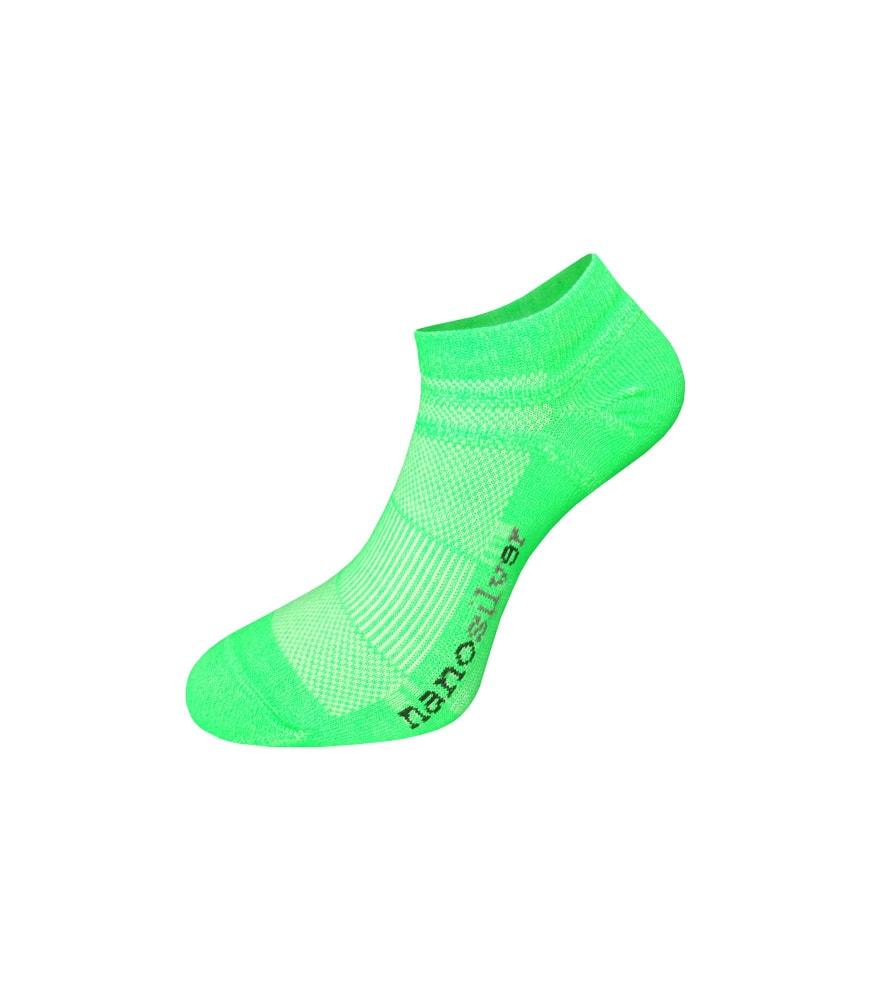 nanosilver Kotníkové tenké ponožky nanosilver - XL 47/49 - zelené