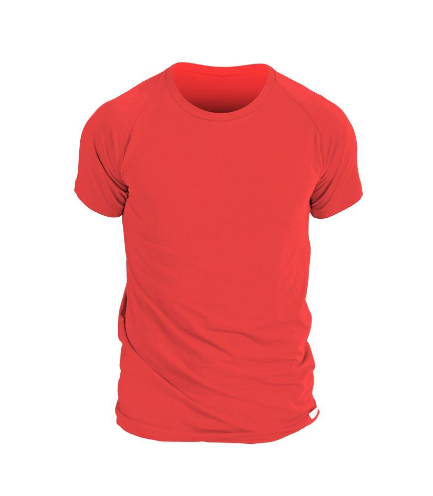 nanosilver Pánské triko nanosilver krátký rukáv - L - červené
