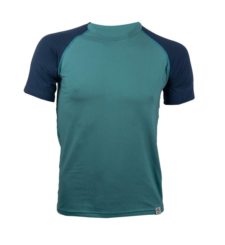 Levně Triko Classic Combi s krátkým rukávem - XL - smaragdovo/tm. modré