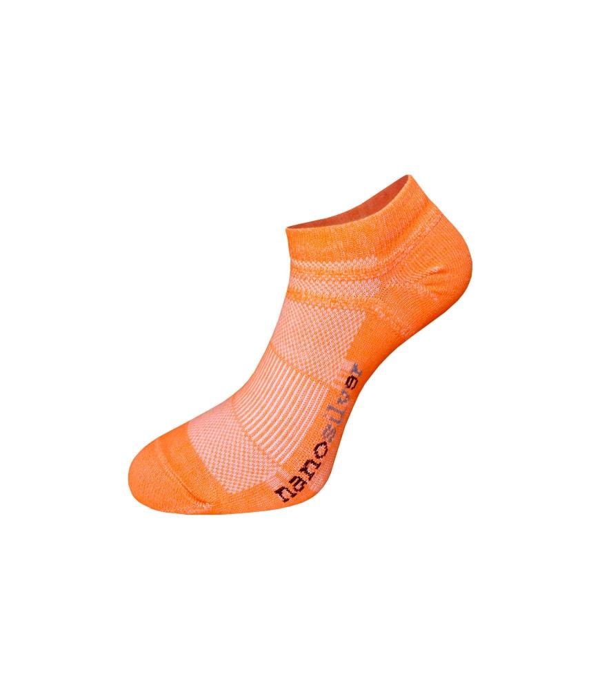 nanosilver Kotníkové tenké ponožky nanosilver - L 43/46 - oranžové