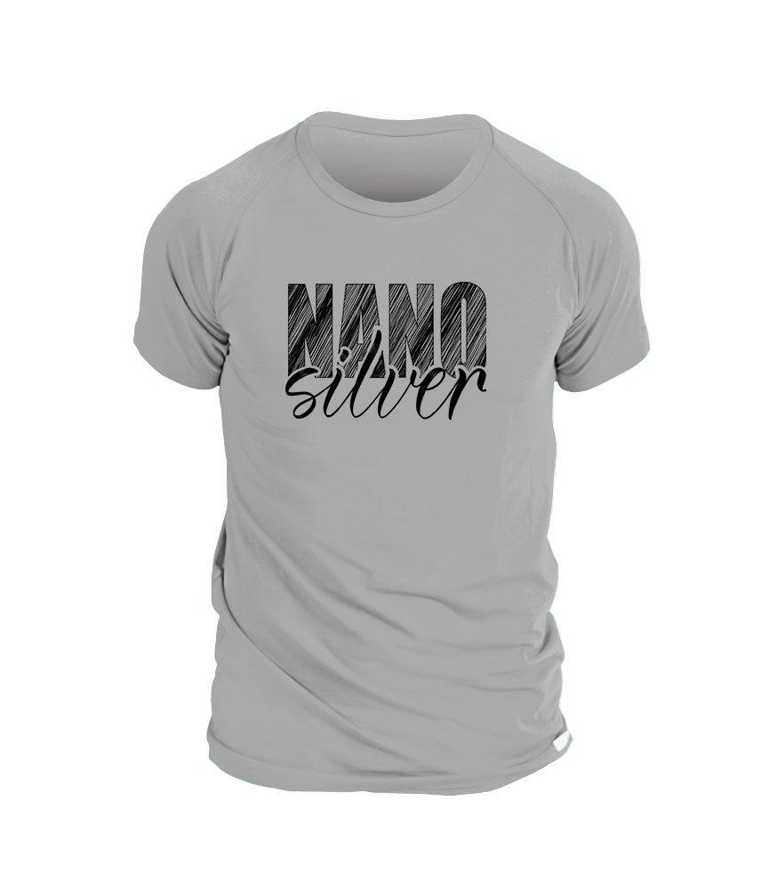 Levně Pánské triko potisk NANOsilver - L - šedá