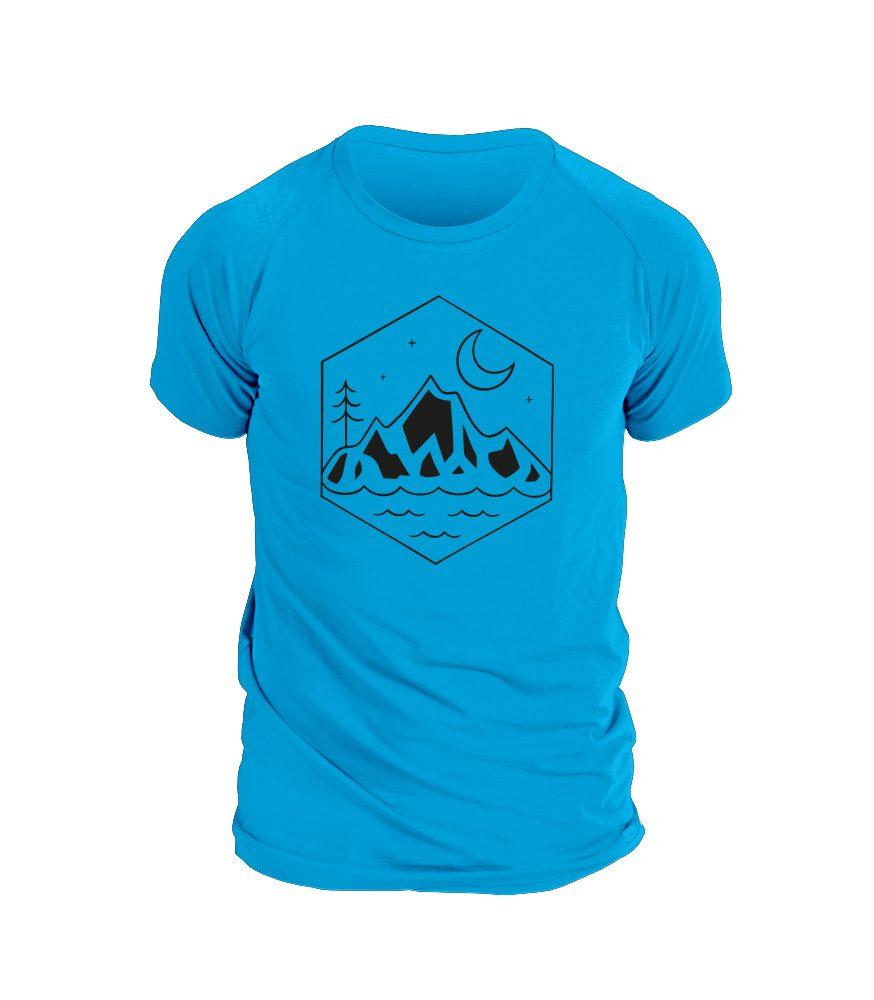 Levně Pánské triko NATURE - XL - modrá