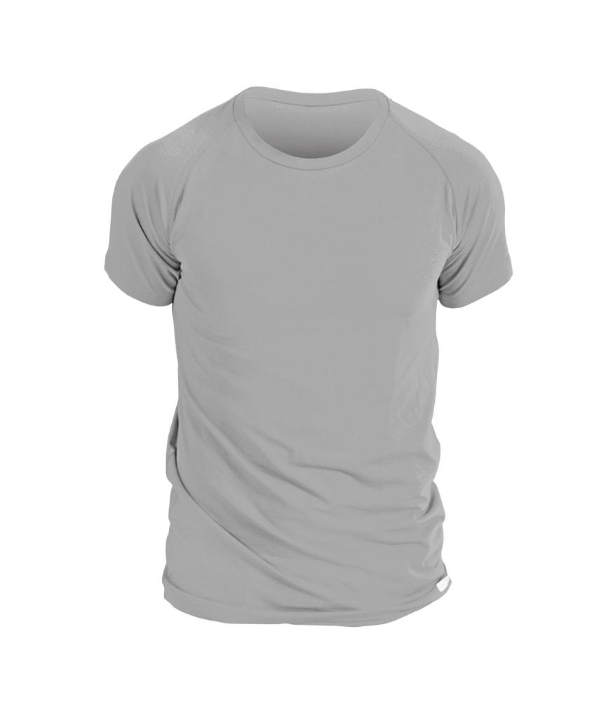 nanosilver Pánské triko nanosilver krátký rukáv - L - šedé