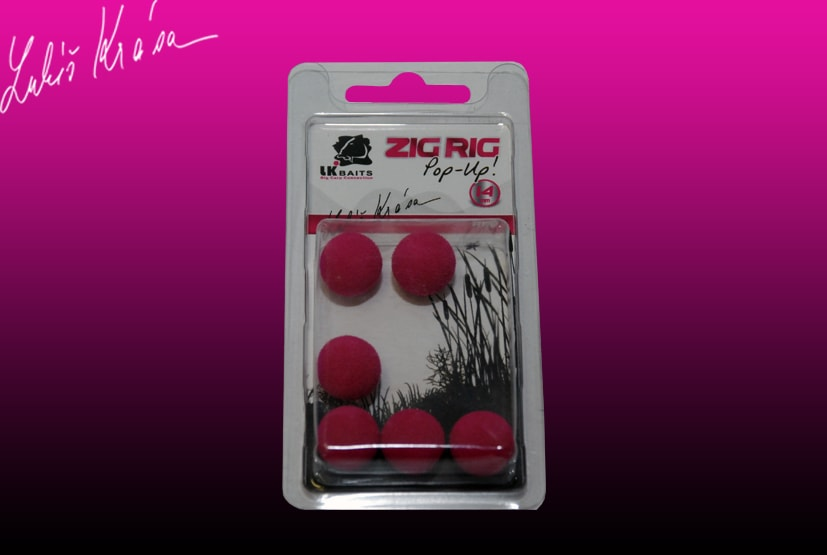 LK Baits ZIG RIG Pop–Up - 14 mm - Red