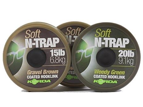 Korda Šňůrka N-Trap Soft 20m - 15lb Weedy Green