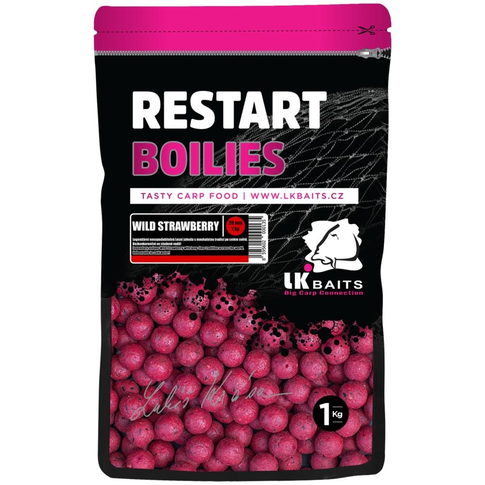LK Baits Boilie ReStart Wild Strawberry 18mm 250g