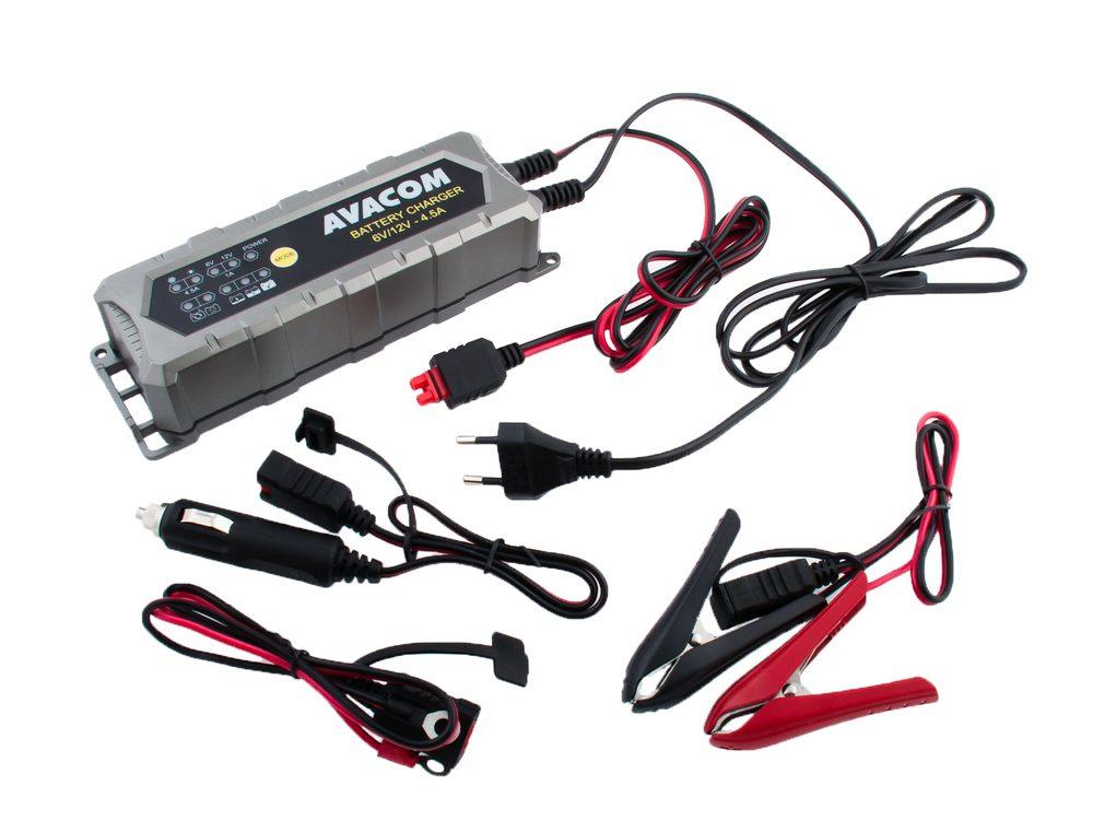 Avacom Automatická nabíječka 6V/12V 4,5A pro olověné AGM/GEL akumulátory (1,2 - 120Ah)