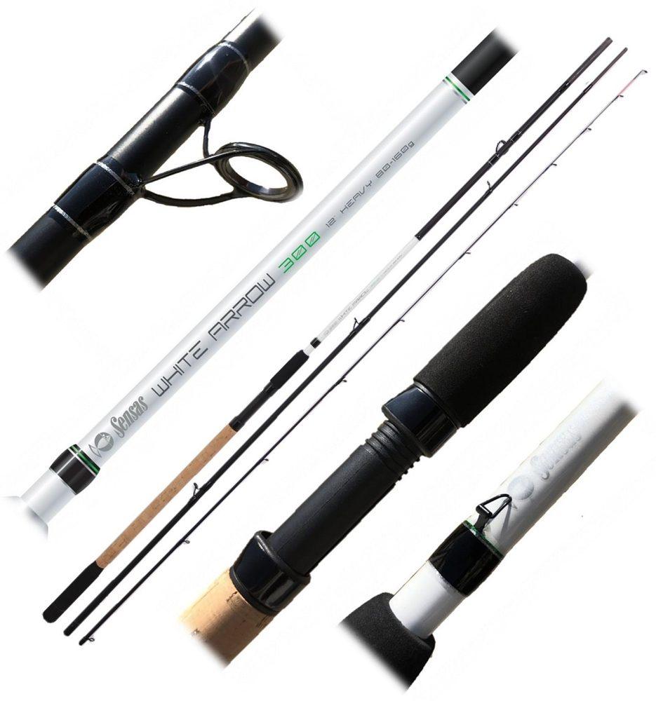 Sensas Prut Feeder White Arrow 300 3,6m Heavy 80-160g