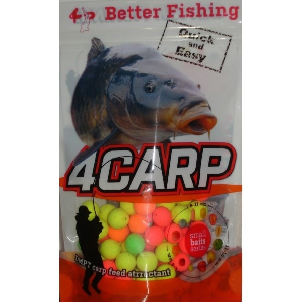 4Carp Fluoro pop up boilies 30g - Jahoda 15mm