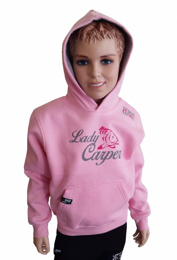 R-Spekt Dětská mikina s kapucí Lady Carper pink - 11/12 yrs