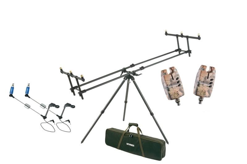 Mivardi Stojan Tripod Premium + ZDARMA 2x Sounder EASY CAMO a 2x Swingarm No.130