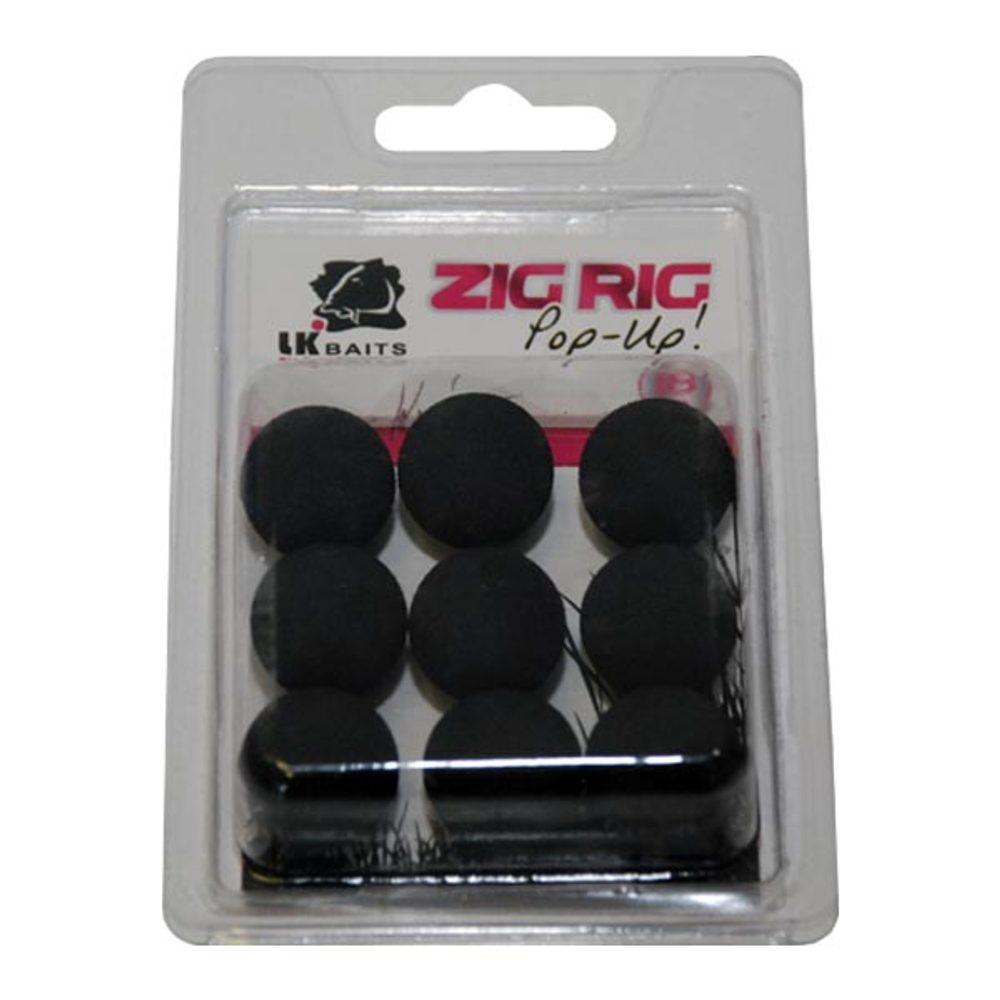 LK Baits ZIG RIG Pop–Up - 18 mm - Black