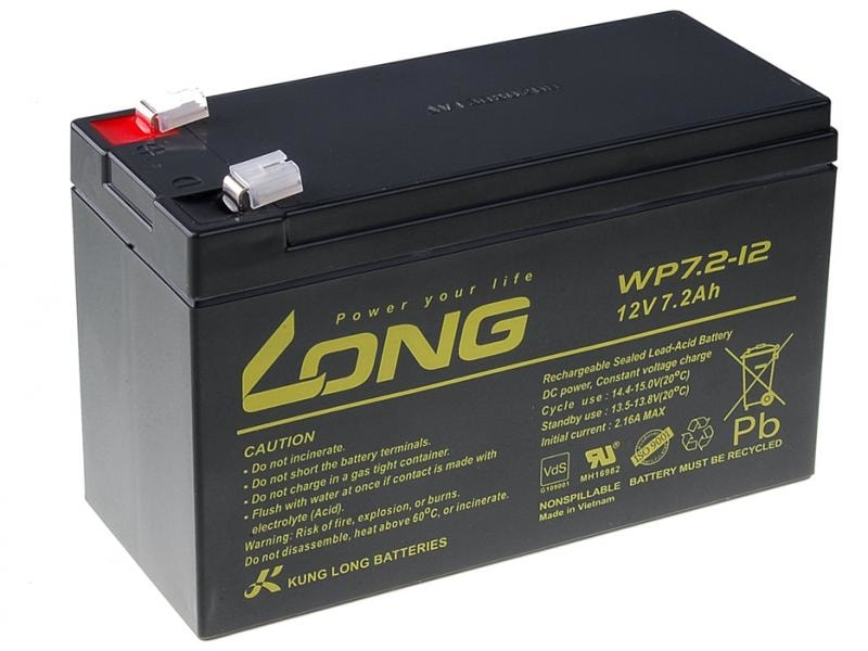 Long Olověný akumulátor 12V 7Ah pro echoloty
