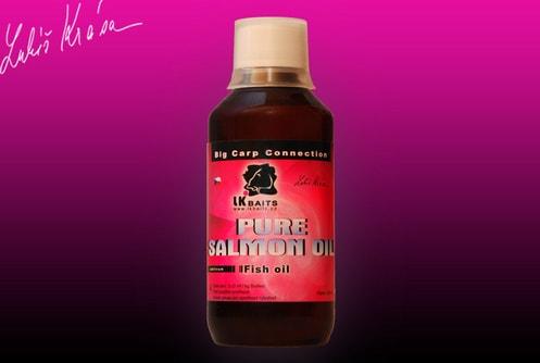 LK Baits Salmon oil pure (čistý lososový olej) 250 ml