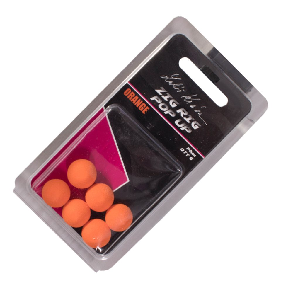 LK Baits ZIG RIG Pop–Up - 14 mm - Orange