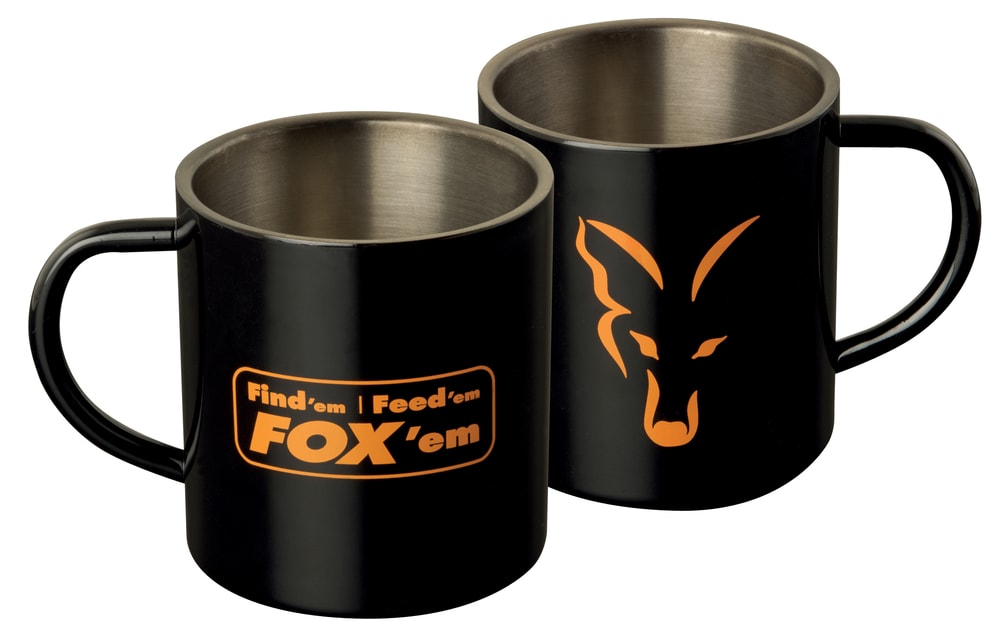 Fotografie Fox Nerezový hrnek Stainless Black XL Mug 400ml