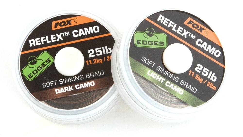 Fox Šňůra Edges Reflex Camo 20m - Dark camo 15lb