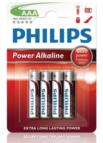 PHILIPS Baterie Powerlife mikrotužka LR03 AAA 1ks - Baterie Philips Power Alkaline AAA 6ks - blistr