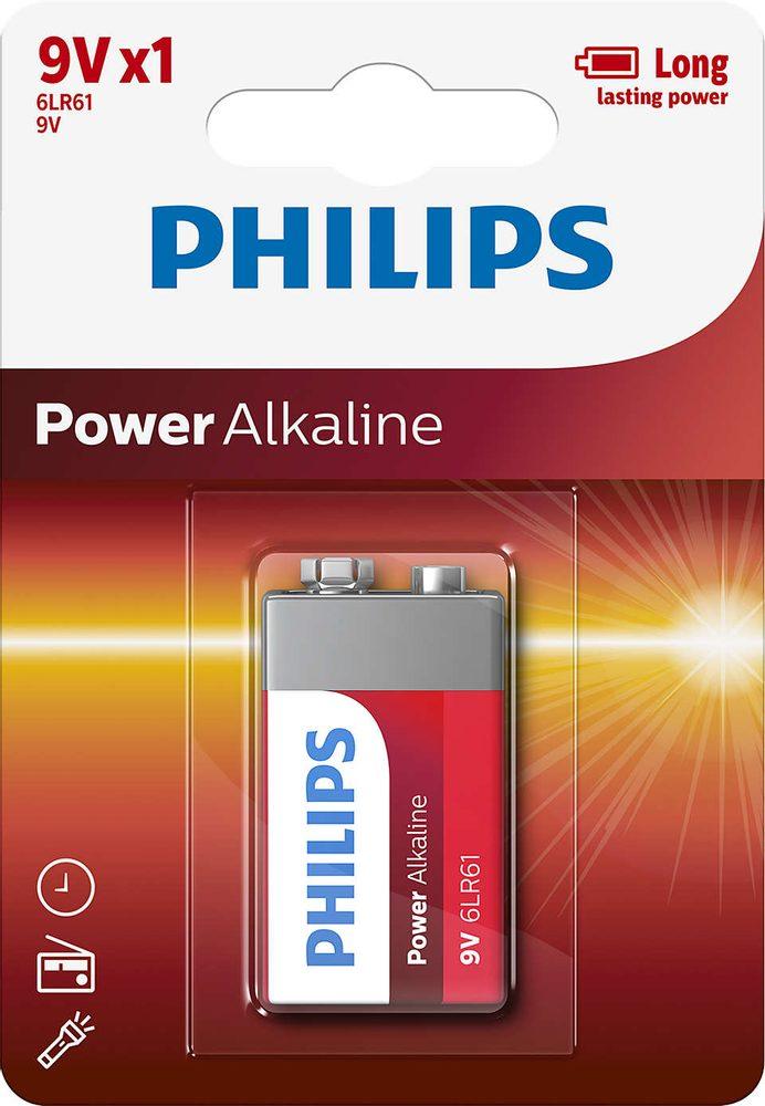 Philips Baterie PowerLife alkalická 9V 1ks - Philips PowerLife 9V 1ks 6LR61P1B/10