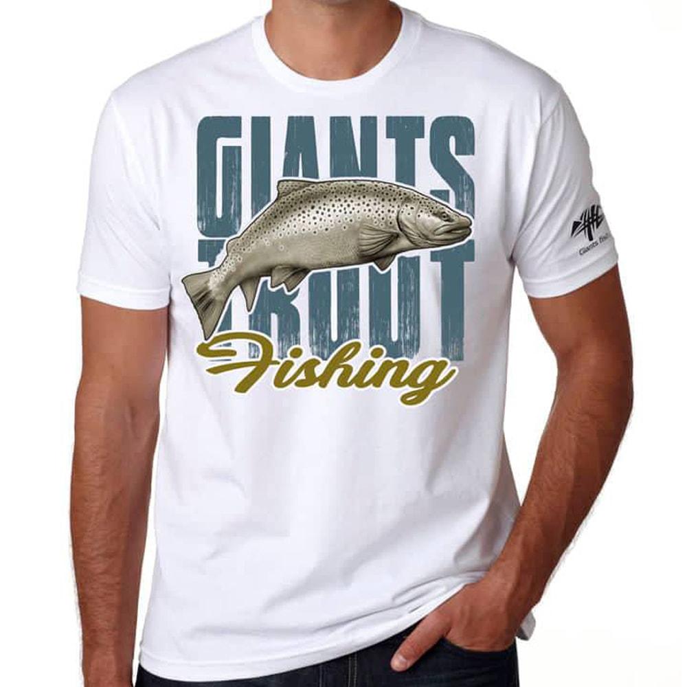 Giants Fishing Tričko pánské bílé Pstruh