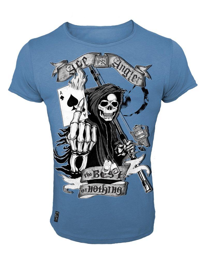 Hotspot Design Tričko Skull Ace Angler - L