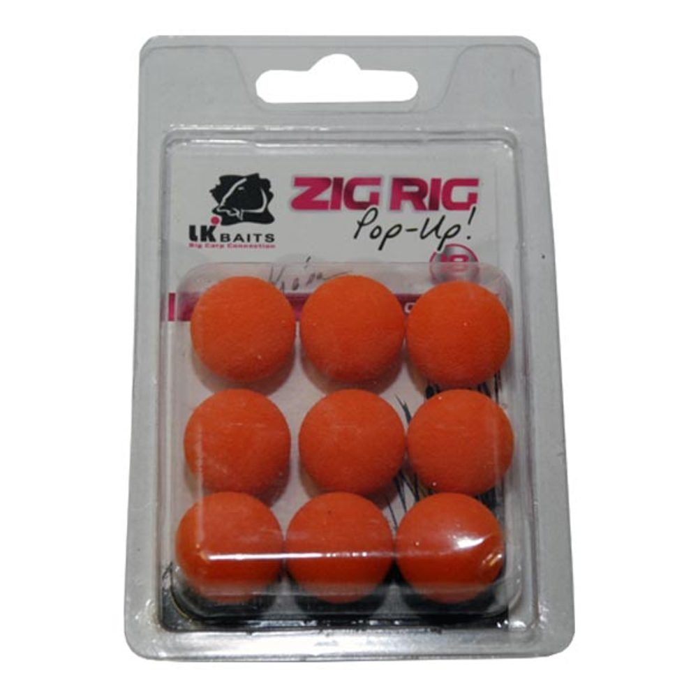 LK Baits ZIG RIG Pop–Up - 18 mm - Orange