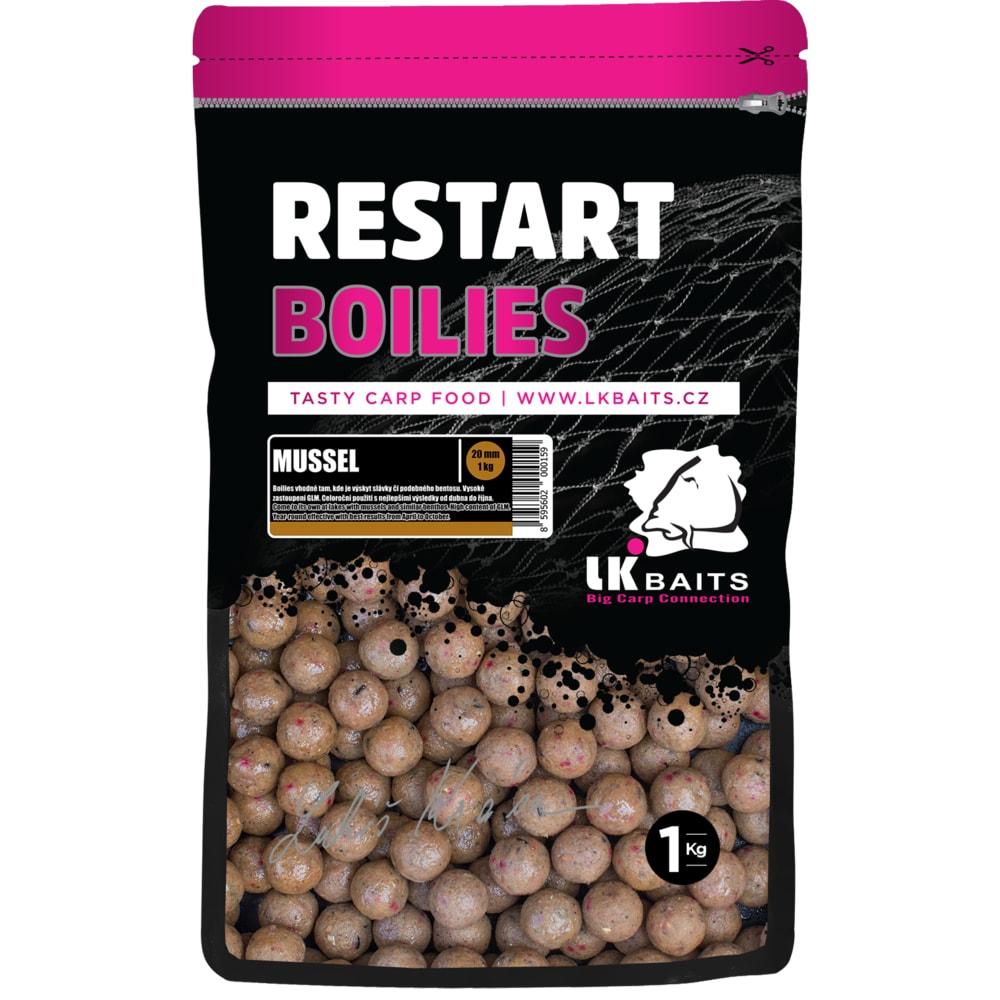 LK Baits Boilie ReStart Mussel 20 mm, 1kg