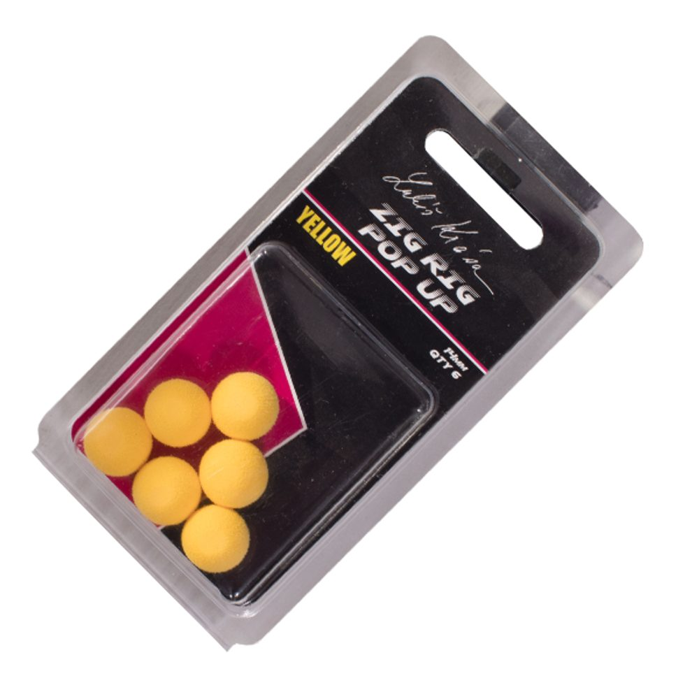 LK Baits ZIG RIG Pop–Up - 14 mm - Yellow