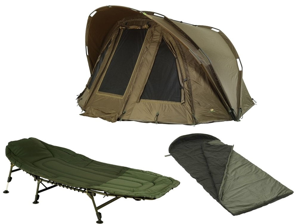 d2068a87d Giants Fishing Bivak Gaube Bivvy 2 Man + lehátko + spací pytel !