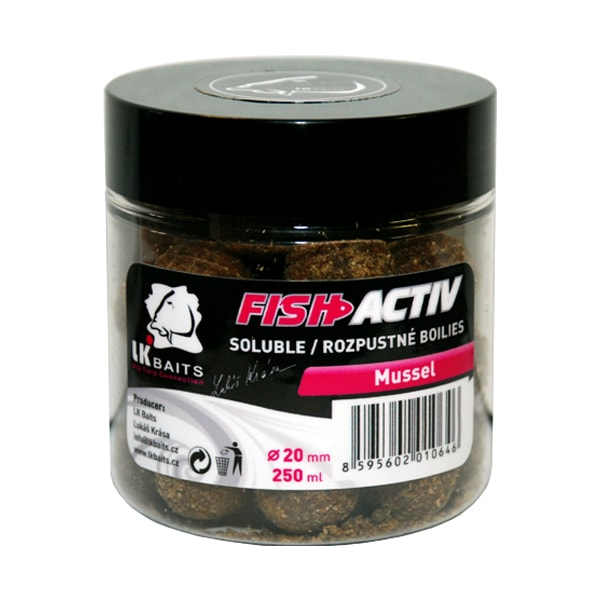 LK Baits Boilie Fish Activ 20mm 250ml - Mussel