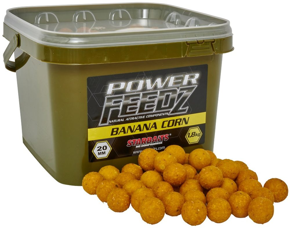 Starbaits Boilies Power FEEDZ Banana Corn 1,8kg