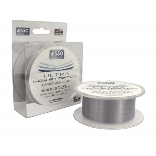 Asso Vlasec Ultra Low Stretch 300m - 0,18 mm