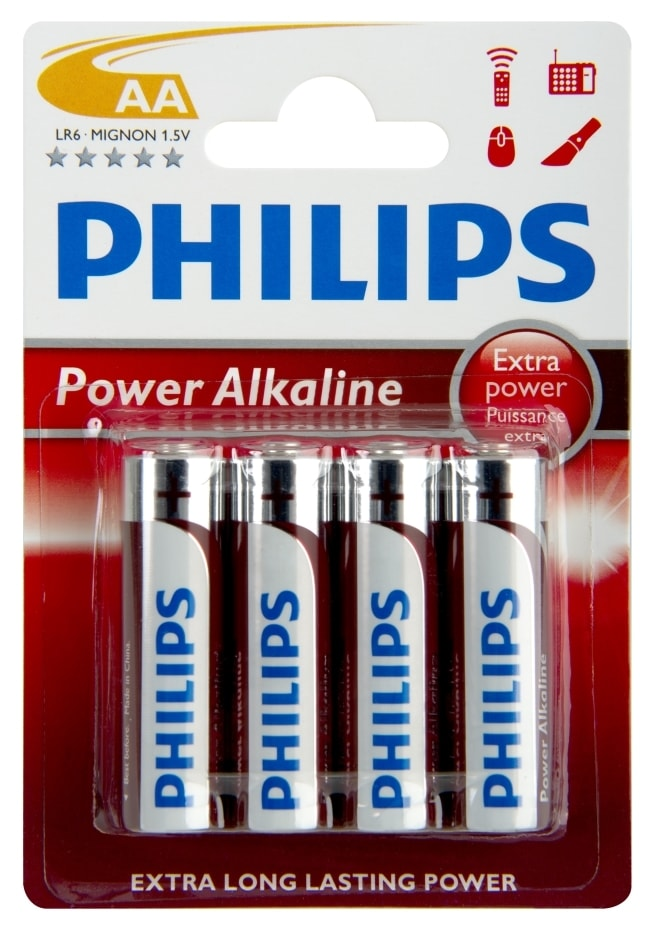 PHILIPS Baterie Powerlife tužková LR6 AA 1ks - Baterie Philips PowerLife AA 4ks