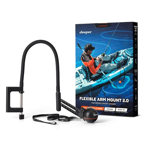 Deeper Držák sonaru Husí krk Flexible Arm 2.0 pro lodě a kajaky