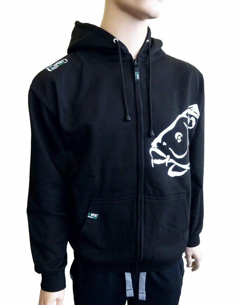 R-Spekt Mikina zipová s kapucí Carper black - S
