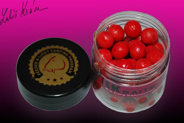 LK Baits MINI Boilies v dipu 12mm 150ml - WILD STRAWBERRY