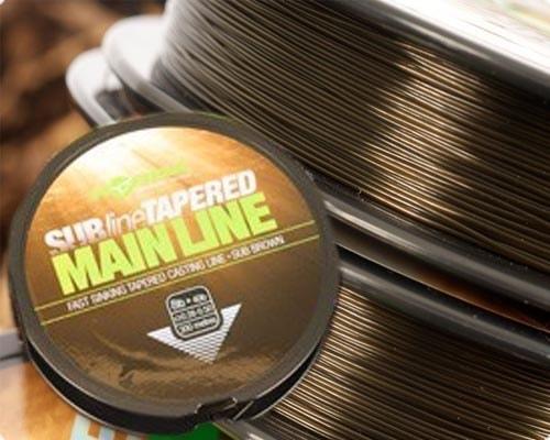 Korda Ujímaný vlasec Subline Tapered Mainline 0,33-0,50mm brown 300m